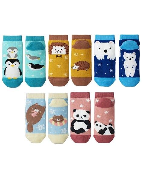 <ニッセン> ベーシックデザインクルーソックス10足組(フリーサイズ) ショート・クルーソックス Socks 1