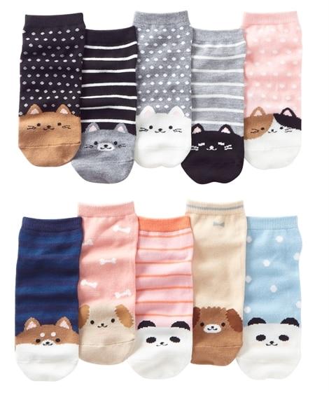 <ニッセン> ベーシックデザインクルーソックス10足組(フリーサイズ) ショート・クルーソックス Socks 7