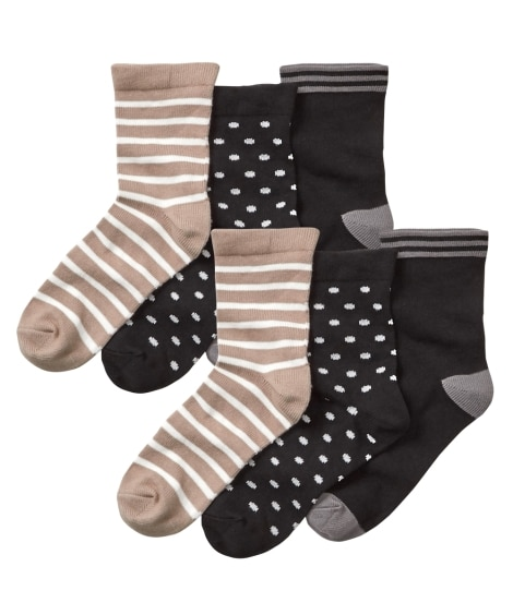 <ニッセン> ベーシックデザインクルーソックス10足組(フリーサイズ) ショート・クルーソックス Socks 13