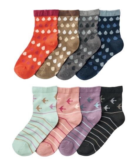 <ニッセン> ウォームコア 発熱 足口ゆったりクルーソックス8足組(フリーサイズ) ショート・クルーソックス Socks 3