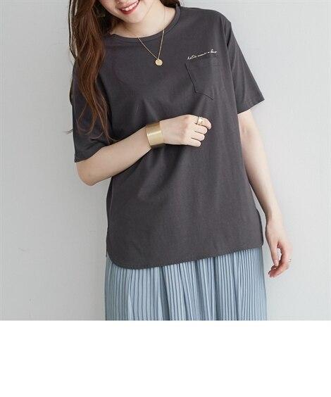 <ニッセン> 白黒ネコ ゆるTシャツ (Tシャツ・カットソー)(レディース)T-shirts 14