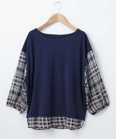 <ニッセン> 白黒ネコ ゆるTシャツ (Tシャツ・カットソー)(レディース)T-shirts 23