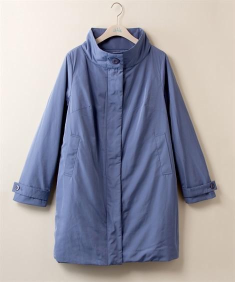 【大きいサイズ】 スタンドカラー中綿ライトコート【stair...