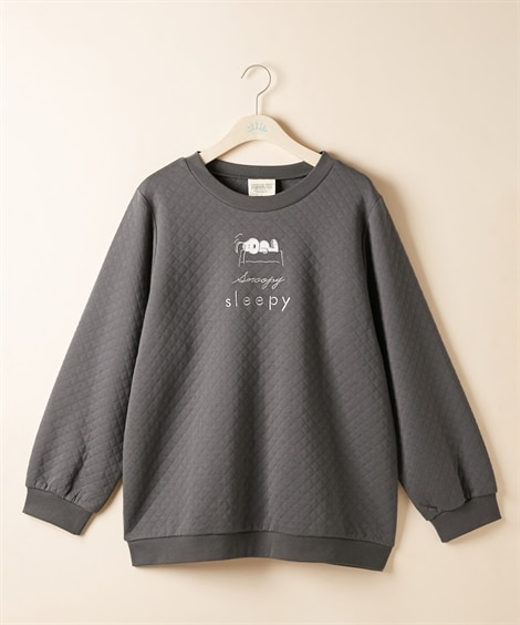 大きいサイズ ピーナッツ スヌーピー刺しゅうキルトプルオーバー ,スマイルランド, plus size sweatshirts