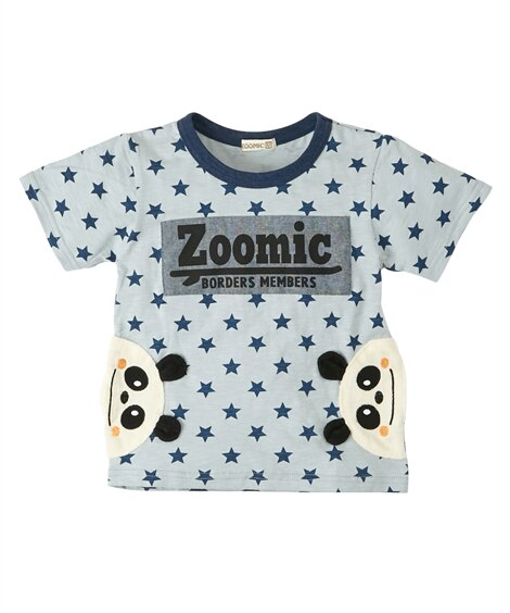 58185fb095929 オフ×赤  ZOOMIC(ズーミック)もこもこアップリケポケット付半袖Tシャツ(男の子 子供服)
