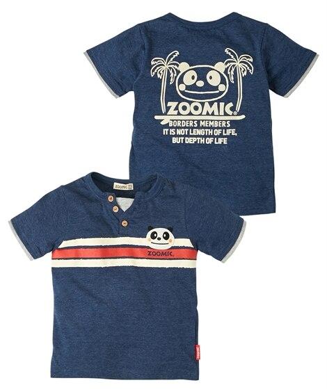 3c22c83be4e7f アイボリー  ZOOMIC(ズーミック)開き見せアップリケ半袖Tシャツ(男の子 子供服)(