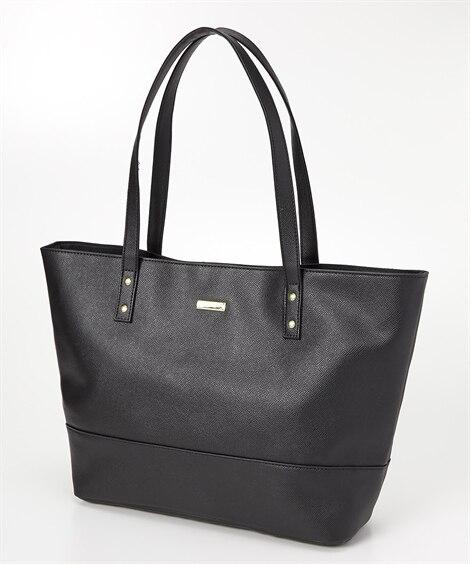シンプルフェイクレザートートバッグ(A4対応) トートバッグ・手提げバッグ, Bags