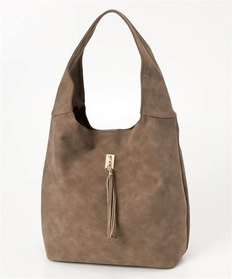 スエード調フェイクレザーざっくりトートバッグ(A4対応) トートバッグ・手提げバッグ, Bags