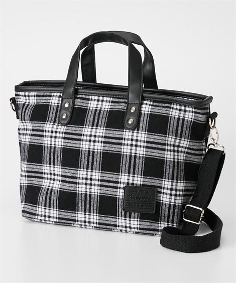チェック2WAYショルダーバッグ ショルダーバッグ・斜め掛けバッグ, Bags