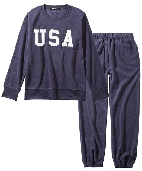 あったかマイクロフリース上下セット(男の子・女の子 子供服・ジュニア服) (トレーナー・スウェット)Kids' Sweatshirts