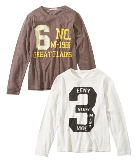 長袖Tシャツ2枚組(男の子 子供服。ジュニア服) (Tシャツ...