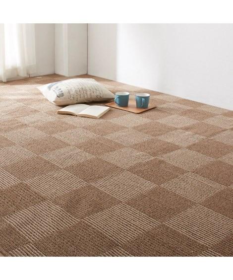 抗菌防臭ブロック柄折りたたみカーペット(日本製) カーペット...