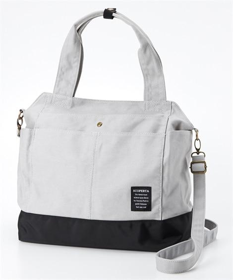 10ポケット帆布2WAYトートバッグ(A4対応) トートバッグ・手提げバッグ, Bags