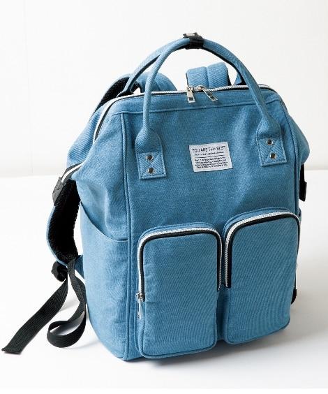 10ポケット 口金リュック(A4対応)(肩ひも長め) リュック・バックパック・ナップサック, Bags
