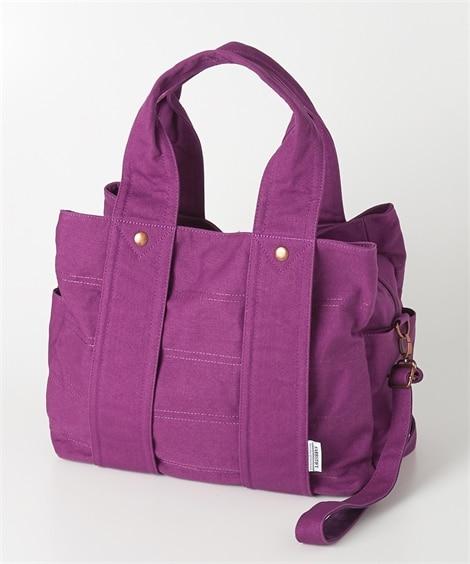 大容量!3室構造の2WAYキャンバストートバッグ(A4対応) トートバッグ・手提げバッグ, Bags