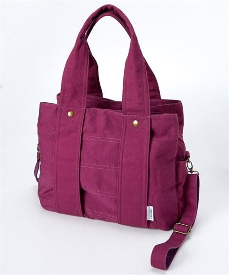 【新色追加】肩ひも長め3室構造の2WAYキャンバストートバッグ(A4対応) トートバッグ・手提げバッグ, Bags