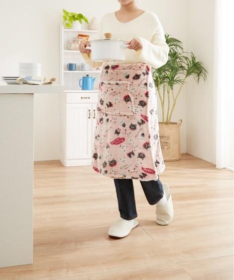 あたたかボアの調節できるラップスカート 毛布・ブランケット