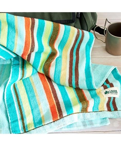LOGOSスポーツタオル ストライプ柄 タオル, Towel...