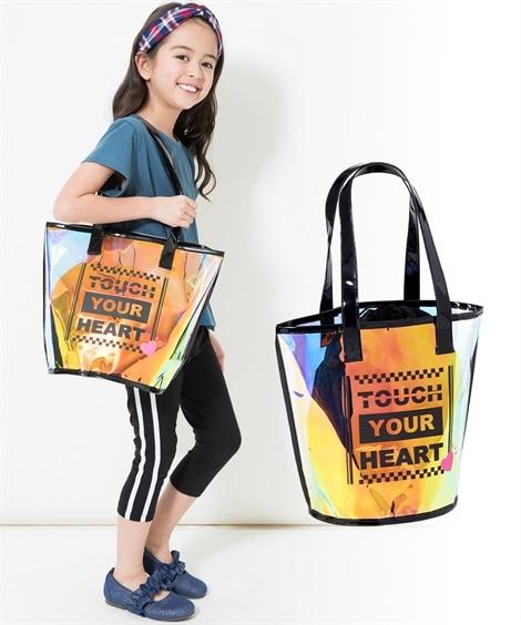 巾着袋付ビーチバック(子供 女の子 ジュニア) ビニールバッグ・ビーチバッグ, Bags
