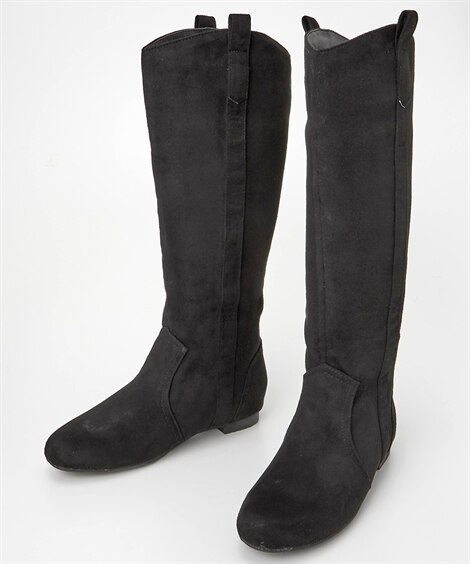 フラットヒールロングブーツ ブーツ・ブーティ, Boots,...