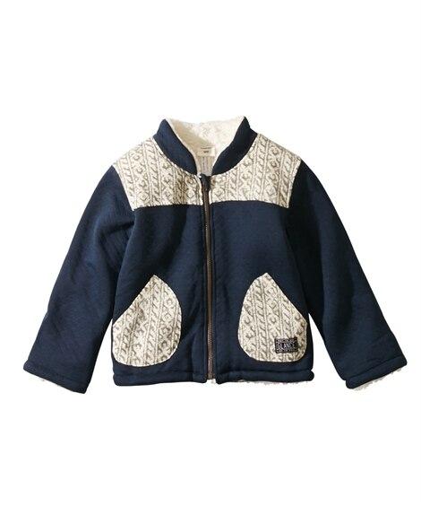 裏ボアフリースブルゾン(男の子 子供服) ジャンパー・コート...