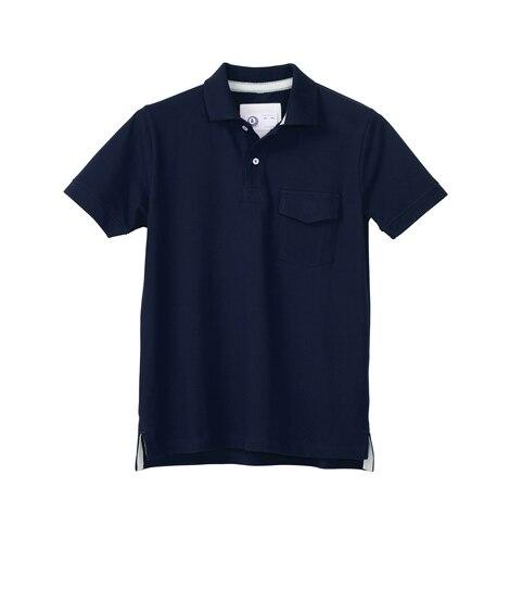KURODARUMA 26447 スリムシルエット鹿の子半袖ポロシャツ 作業服