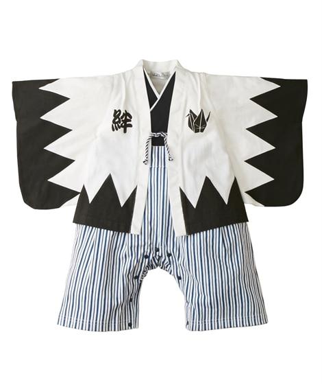 デザイン袴風カバーオール(男の子 子供服。ベビー服) ブラッ...