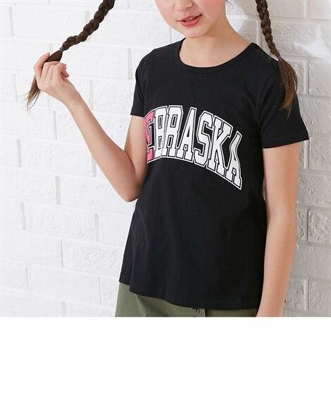 ビックロゴプリントTシャツ(女の子 子供服。ジュニア服) T...