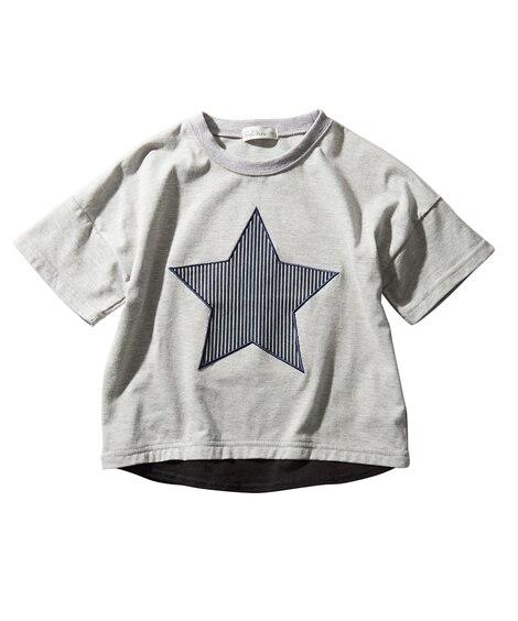 星アップリケ付ビッグシルエットTシャツ (Tシャツ・カットソ...