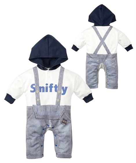 アメカジ重ね着風長袖カバーオール(男の子 子供服・ベビー服) 【ベビー服】Babywear