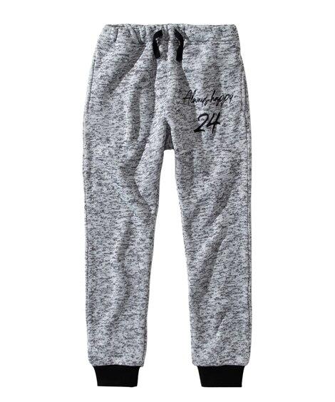 あったかニットフリース裏起毛バックプリント裾リブパンツ(男の子 子供服・ジュニア服) パンツ, Kids' Pants