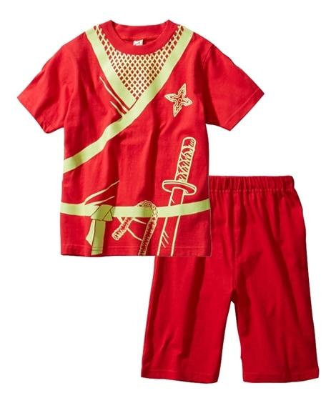 暗いところで光る!忍者プリント半袖パジャマ(男の子 女の子 ...