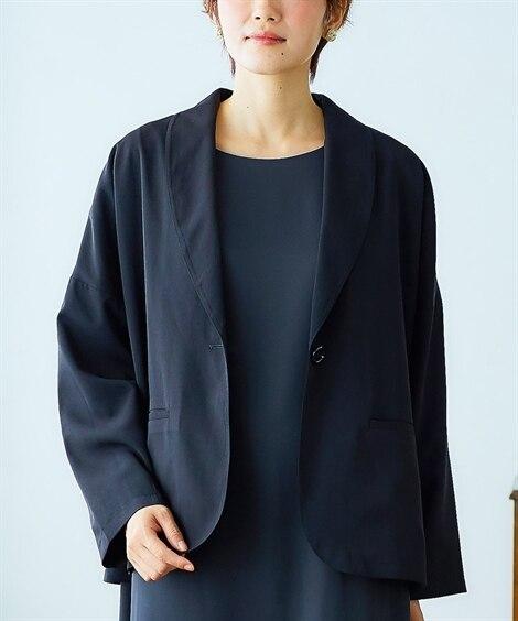 【ナチュラルさんのハレ服】ゆるっとジャケット【入園。入学。卒...