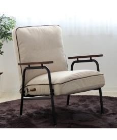 木肘付スチールソファー ソファーの商品画像