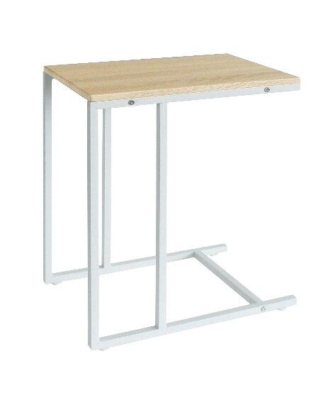 ホッとひと息つけるナチュラル×モダンなサイドテーブル サイドテーブルの写真