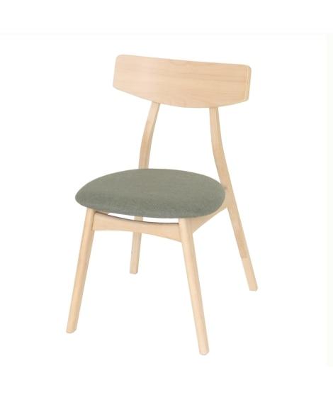 丸くて柔らかなデザインの北欧風ダイニングチェア(同色2脚セット) ダイニングテーブルセット, Tables(ニッセン、nissen)