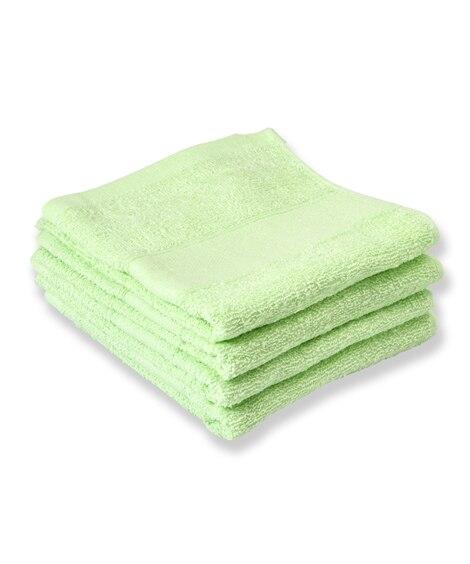 【お買い得】抗菌防臭フェイスタオル同色4枚セット フェイスタオル, Towels(ニッセン、nissen)