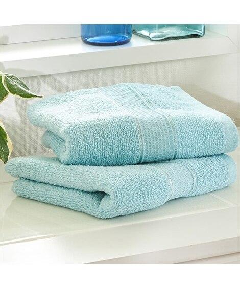 【お買い得】ソフトカラーフェイスタオル同色2枚セット フェイスタオル, Towels(ニッセン、nissen)