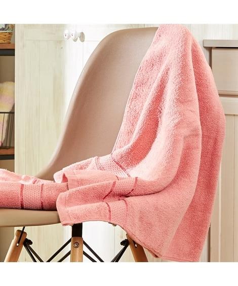 【お買い得】ソフトカラーバスタオル同色2枚セット バスタオル...
