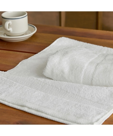 甘撚りコーマ糸カラーフェイスタオル同色2枚セット フェイスタオル, Towels(ニッセン、nissen)