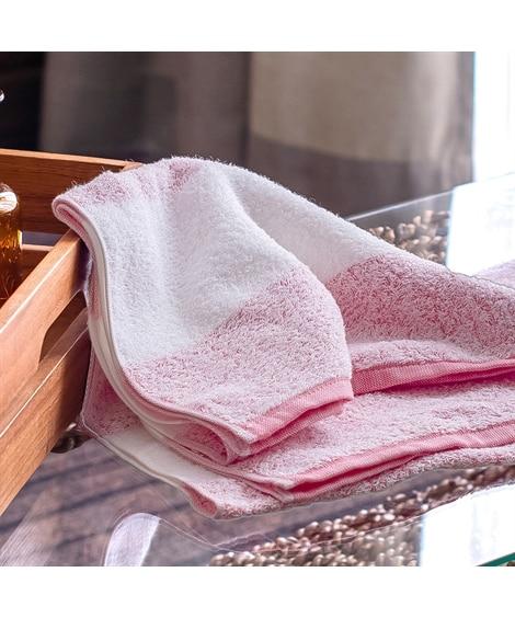 泉州タオルの透かし織技法が繊細なボーダーフェイスタオル 同色2枚セット フェイスタオル, Towels(ニッセン、nissen)