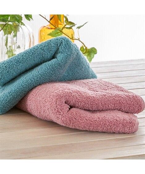 甘撚り ロングパイルフェイスタオル 2枚セット フェイスタオル, Towels(ニッセン、nissen)