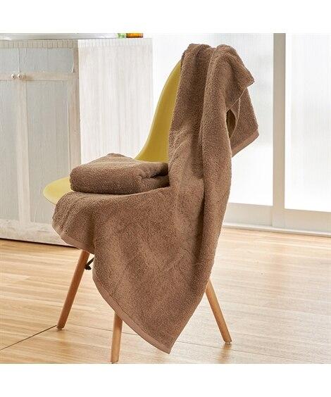 甘撚り ロングパイルバスタオル 同色2枚組 バスタオル, T...