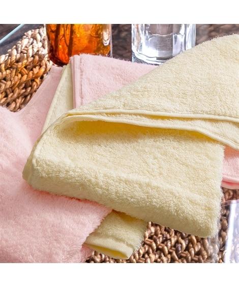 端までふわふわが続くフェイスタオル 2色セット フェイスタオル, Towels(ニッセン、nissen)