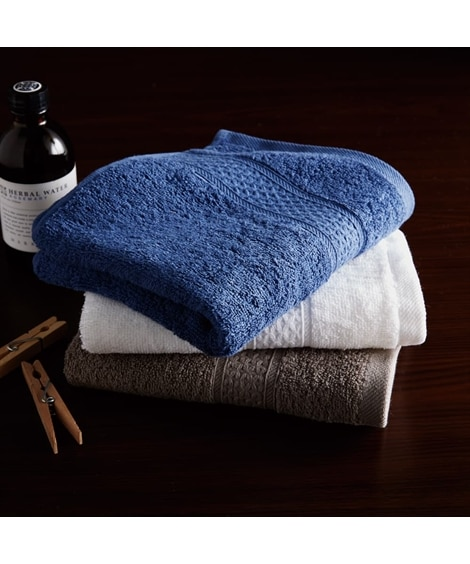 光沢のあるなめらかな新疆綿厚手フェイスタオル3枚セット フェイスタオル, Towels(ニッセン、nissen)