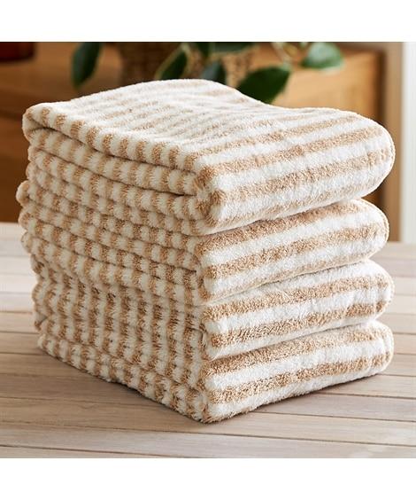 ふわふわマイクロファイバーフェイスタオル 同色4枚セット フェイスタオル, Towels(ニッセン、nissen)