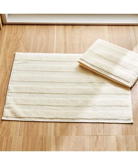 ホテルタイプ 肌触りのいいタオル地バスマット同色2枚セット バスマット, Bath goods(ニッセン、nissen)