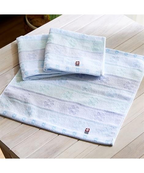 今治タオルブランド シュシュ お花のモチーフがかわいいハンドタオル(34×35) 同色3枚セット ハンドタオル・タオルハンカチ, Towels(ニッセン、nissen)