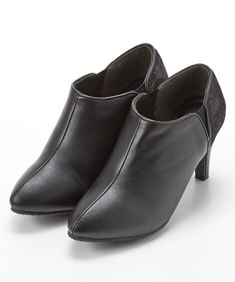 サイドゴアバイカラーブーティ ブーツ・ブーティ, Boots...