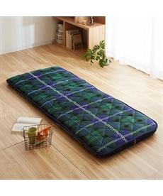 お布団屋さんが作ったあったか固わた入りごろ寝敷布団(チェック柄) 敷布団の商品画像